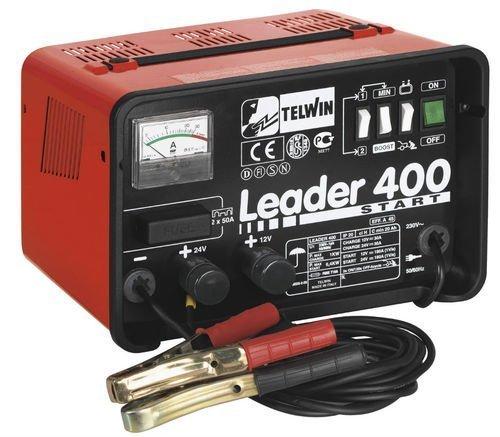 Caricabatterie Starter Telwin Mod.Leader 400 230V, Carica batterie e avviatore per la carica di batterie ad elettrolita libero (WET) con tensione di 12/24Vc/protezione da sovraccarich
