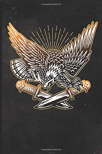 Journal: Bald Eagle with Knives Tattoo Design Dot Grid Tattoo Flash Sketching Journal (Sailor Jerry Flash)