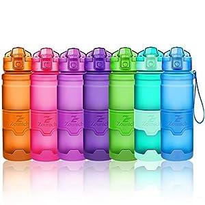 51Yv GYvBbL. SS300 Bottiglia d'acqua sportiva palestra borraccia senza BPA in plastica tritan 1l/700ml/500ml/400ml,bottiglie bambini, sport…