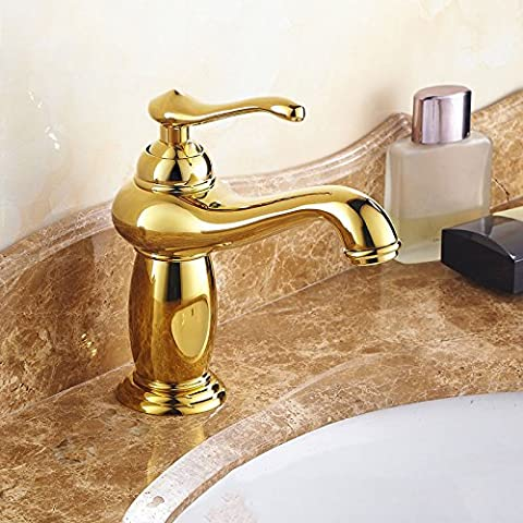 Kitchen Faucet Hot And Cold Faucets Can Be Refined Copper Refined Copper Basin Faucet ( Color : Gold )