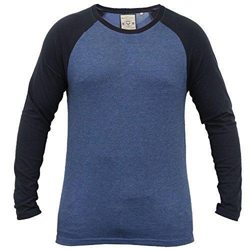 Herren Top T Shirt By Brave Soul Rundhals Blau - 69OSBOURNEC