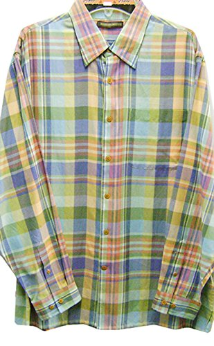 Roper Western Shirt (Modestone Men's Long Sleeve Western Hemd Checked Multi Colored Silk/Cotton)