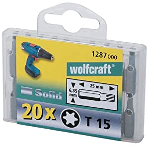 Wolfcraft 1281000 Embouts solid phillips n2 box pro Lot de 20