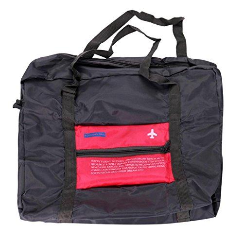 Igemy Groß Faltbare Reise Lagerung Gepäck Carry-on Hand Schulter Duffle Bag (Pink)