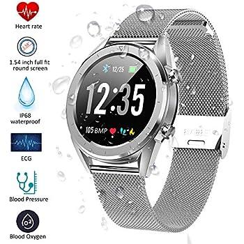 Smartwatch, Kivors Reloj Inteligente Bluetooth SmartWatch Pantalla táctil con Múltiples Modos de Deportes, Monitor de sueño, Podómetro, Notificación ...