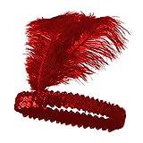 TrifyCore Style de la Mode Indienne Paillettes Bandeau Chic Paillettes Plume Coiffe réutilisable Vintage Bandeau Flapper pour Les Femmes
