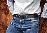 Inner Tube Men 's Belts Red–Gürtel aus Fahrradschlauch von Fahrrad–handgefertigt In Italien