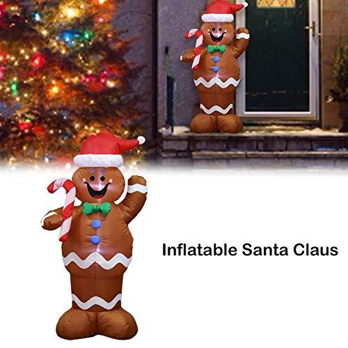 Aufblasbar Weihnachten Hof Dekorationen - WXGY 1,5 mt Aufblasbare Weihnachten Weihnachtsmann,