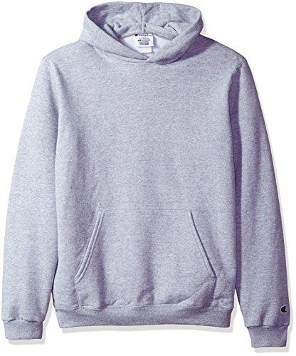 Champion Boys Big Powerblend Eco Fleece Pullover Hoodie, Light Steel, S (Champion Sweatshirt Heavyweight)