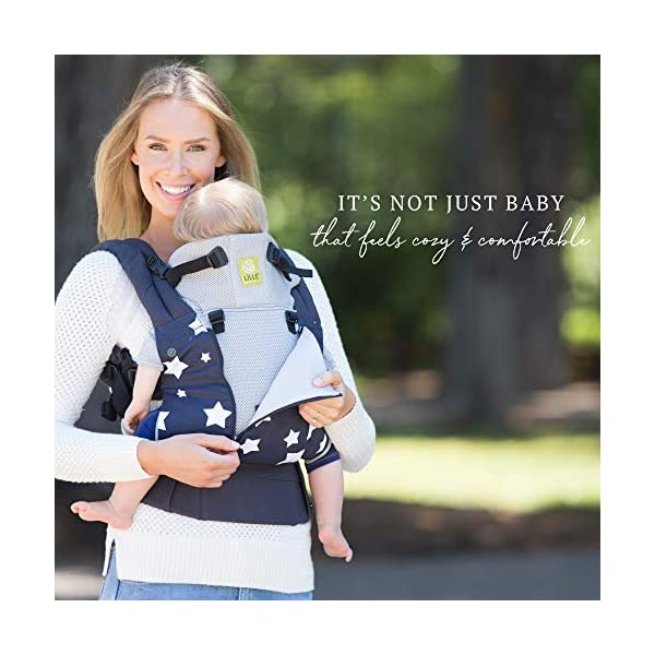 LILLEbaby Baby and Child Carrier Lillebaby With a temperature regulating breathable panel and 6 carrying positions - foetal, infant inward, outward, toddler inward, hip, back - the only carrier you'll ever need! Suitable from 3.2- 20kg (birth to approx. 4 years old), providing extended comfortable use for parent and child with no additional infant support required for new-borns The ergonomic adjustable seat is acknowledged as 'hip-healthy' by the international hip dysplasia institute 4