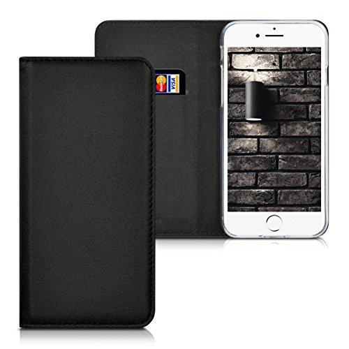 kwmobile Flip Cover Lederhülle für Apple iPhone 7 / 8 mit Ständer - Hülle Case in Schwarz