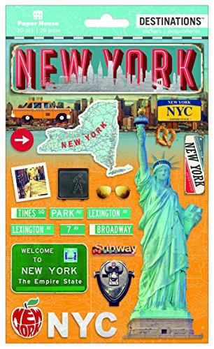 Produktbild Papier House PRODUCTIONS Travel New York City 2D Aufkleber