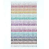 Bronagrand 900PCS 3mm/4mm/5mm strass adesivi autoadesivi Face Gem foglio di adesivi decorativi, per decorazioni e progetti creativi, colori assortiti