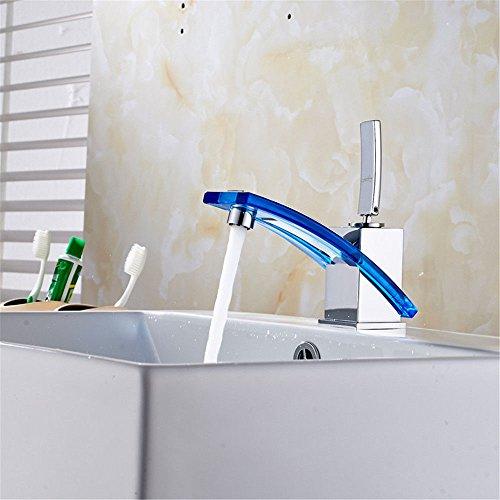 YSRBath Moderne Waschbecken Waschtischarmatur Antike Blau Voll Kupfer Vergoldet Warm und Kalt Mischbatterie Bad Küche Wasserhahn Badarmatur
