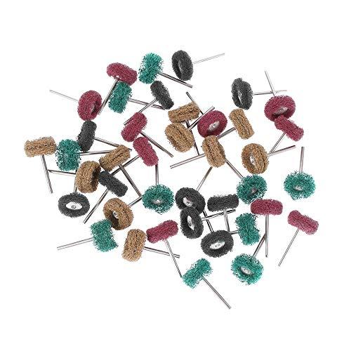 Unstopup 40 Stück Polierschleifwerkzeuge, Nylonfaser, Scheuerschwamm Bürste, Schleifrad, Polierwerkzeug