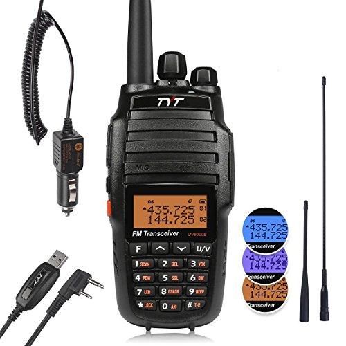 TYT UV8000E Two-Way Radio 10W High Power Dual Band UHF VHF Walkie Talkie &  3600mAh, w/ Car Charger & 2 Antennas & Cable
