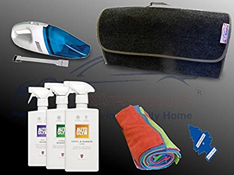 XtremeAuto® AUTOGLYM EXPERT CAR INTERIOR/SEAT CLEANING KIT SET, with 12V Vacuum Cleaner: Car, Taxi, Bus. (Cloth Interior Kit #3) FREE AIR FRESHENER!