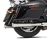 Auspuff Schalldämpfer Falcon für Harley Davidson Road King Special 2018 silber