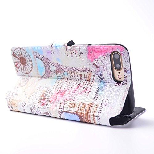 Cover iPhone 7 Plus, CaseLover iPhone 7 Plus 5.5 Custodia Pelle 3D Magnetico Protettiva Stampata Portafoglio con Sottile Silicone Morbido Case Cinturino Card Slot Antigraffio Flip PU Supporto Funzion citazione