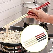 Dealglad® 5pares Cocina Hot Pot bambú Noodles Cocina antideslizante palillos Vajilla Vajilla (13)