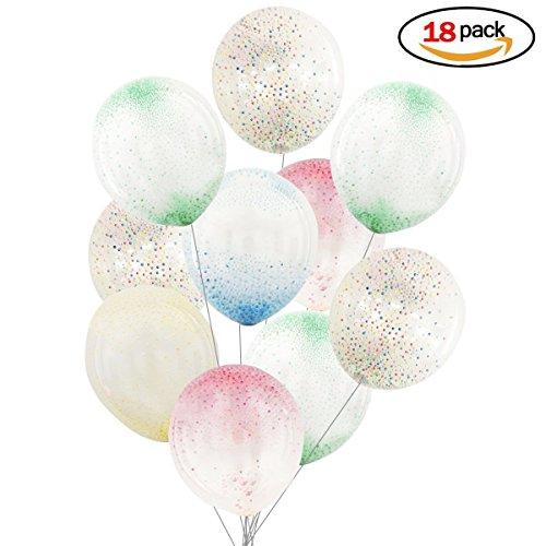Isuper Globos Balloons Multicolores para Decoraciones Fiesta Cumpleaños Boda Globos de Látex 18 piezas