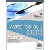 Silvine A4 plus tamaño de la funda de acuarela de la marca de patines sobre ruedas para 300g 12 hojas de papel de