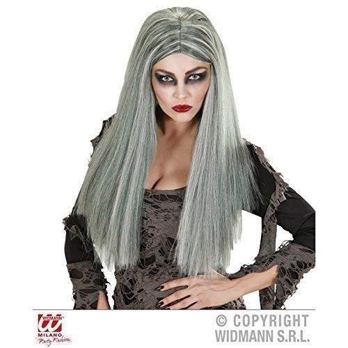 Lively Moments Perücke Frauenperücke in graus - Schwarz / Zombie / Hexe als Hexenkostüm Zubehör oder Accessoire (Gothic Oder Hexe Perücke)