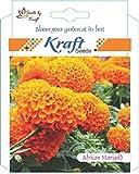 #5: Kraft Seeds African Marigold Flower Seeds (Orange)
