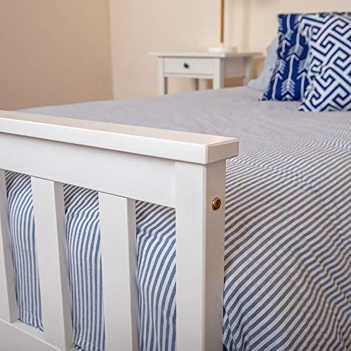 White Wooden 3ft Single Bed Frame