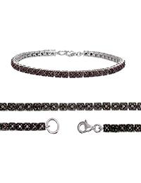 Sterling Silver Black Diamond Bracelet (1 CT)