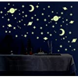 Jaamso Royals 'Galaxy of Stars Radium Glow in The Dark' Wall Sticker (Vinyl, 32 cm x 24 cm x 0.5 cm, Y0036)