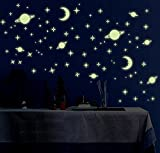 #8: Jaamso Royals Y0036 Galaxy of Stars Radium Glow in the dark Wall Sticker