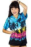 V.H.O. Funky Hawaiihemd Hawaiibluse, Beach, türkis, M