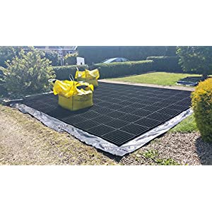 GARDEN SHED BASE GRID 2M X 1.5M SUITS 6X5-6X4 SHEDS & 7X5 FEET SHEDS = FULL ECO KIT + HEAVY DUTY MEMBRANE – PLASTIC ECO PAVING SLAB BASES & DRIVEWAY GRIDS