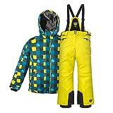 Killtec Kinderskianzug Skijacke Skihose für Mädchen & Jungen zur Farb- und Größenwahl (gelb, 128)