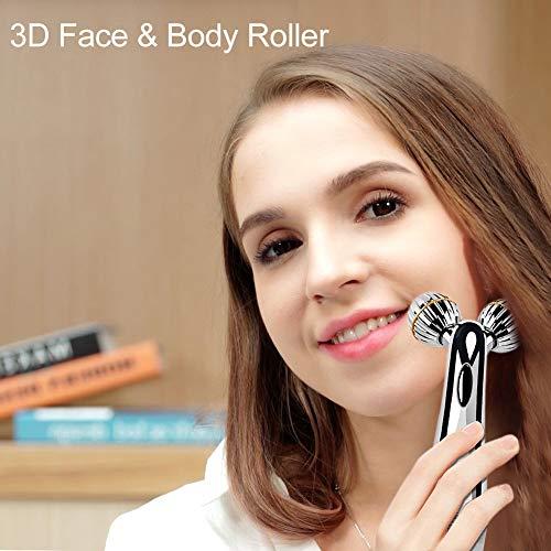 SUNMAY 3D Gesicht Roller Massage Gesichtslifting Massager – Gesichtsroller mit Mikrostrom für Gesichtsmassage, Hautstraffung, Doppelkinn Entfernen – Massagegerät Massageroller für Gesicht, Körper - 2