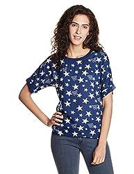 Wrangler Womens Button Down Shirt (W199327CAN1D_Blue_00L)