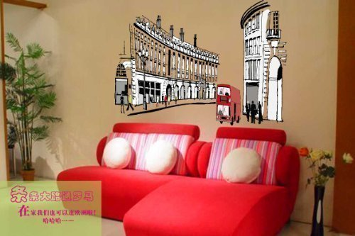 walplus-sticker-mural-chambre-enfant-londres-regent-street-decoration