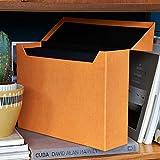 Bigso Box of Sweden Aufbewahrungsbox aus Segeltuch W34cm x D10cm x H25cm Orange