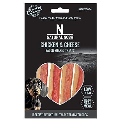 Natural Nosh Dog Treats - Chicken & Cheese Bacon Shaped Treats 100g 1