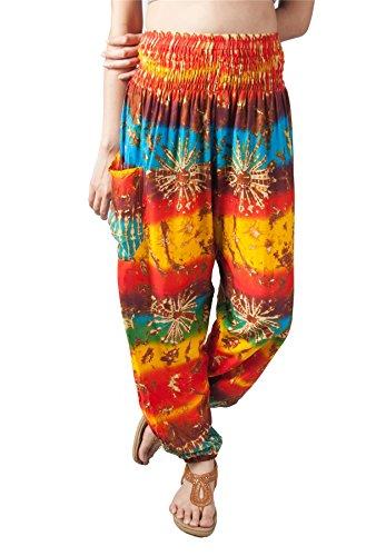 Harem Spiaggia festa Hippie Pantaloni Aladino Boho Pantaloni yoga festival