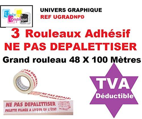 3 rodillos no adhesivo depalletise francés 48 X 100
