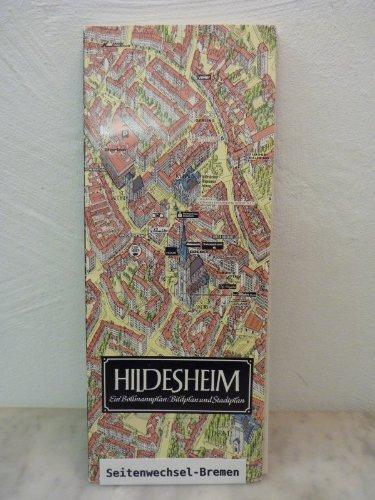 Hildesheim. Ein Bildplan und Stadtplan. Maßstab 1:3500