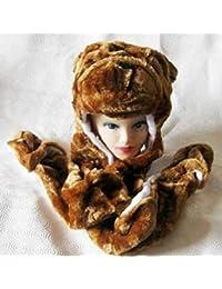 Infantil 7.6cm 1 Animal faceTrapper Sombrero / Bufanda / Mitones