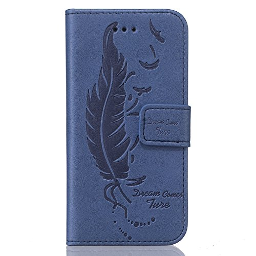 iPhone SE Red,Phone SE Coque en Cuir Folio Etui,Coque Etui pour iPhone 5S,iPhone 5S / 5 Wallet Leather Flip Case Protective Cover,EMAXELERS iPhone 5S Etui de Protection Case Cover PU Cuir Portefeuille bleu