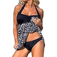 OVERDOSE Plus Size Frauen Push-up Schwimmen Kleid Damen Causal Tankini Sets  Zweiteiler Badeanzug Bademode ab102b9f57