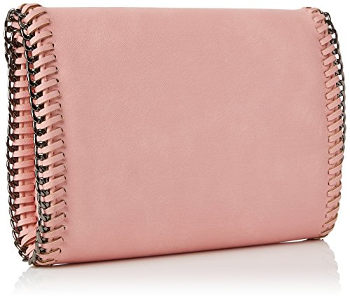 SwankySwansWinona Chain Faux Leather Clutch Bag Tan - Sacchetto donna Pink