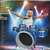 EddyToys Kinder Schlagzeug Trommel Spielzeug Musikinstrument Jazz Drums