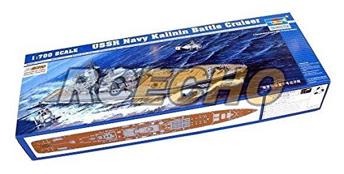Preisvergleich Produktbild RCECHO® TRUMPETER Military Model 1/700 War Ship USSR Kalinin Battle Cruiser 05709 P5709 with RCECHO® Full Version Apps Edition