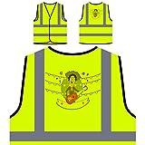 Festa Junina Neues Festgeschenk Personalisierte High Visibility Gelbe Sicherheitsjacke Weste e939v
